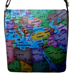 Globe World Map Maps Europe Flap Closure Messenger Bag (s)