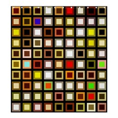 Squares Colorful Texture Modern Art Shower Curtain 66  X 72  (large)