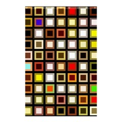 Squares Colorful Texture Modern Art Shower Curtain 48  X 72  (small)  by Bejoart