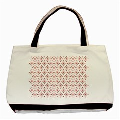 Pattern Christmas Pattern Red Stars Basic Tote Bag