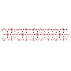 Pattern Christmas Pattern Red Stars Large Flano Scarf  by Sapixe