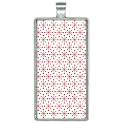 Pattern Christmas Pattern Red Stars Rectangle Necklace