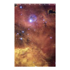 Comic Astronomy Sky With Stars Orange Brown And Yellow Shower Curtain 48  X 72  (small)