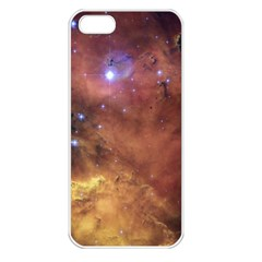 Comic Astronomy Sky With Stars Orange Brown And Yellow Apple Iphone 5 Seamless Case (white) by snek