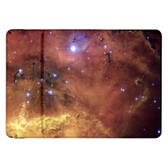 Comic Astronomy Sky With Stars Orange Brown And Yellow Samsung Galaxy Tab 8 9  P7300 Flip Case by snek