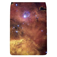 Comic Astronomy Sky With Stars Orange Brown And Yellow Removable Flap Cover (l)