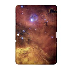 Comic Astronomy Sky With Stars Orange Brown And Yellow Samsung Galaxy Tab 2 (10 1 ) P5100 Hardshell Case  by snek