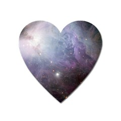 Orion Nebula Pastel Violet Purple Turquoise Blue Star Formation  Heart Magnet by genx