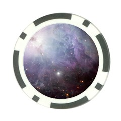 Orion Nebula Pastel Violet Purple Turquoise Blue Star Formation  Poker Chip Card Guard by genx