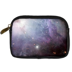 Orion Nebula Pastel Violet Purple Turquoise Blue Star Formation  Digital Camera Leather Case by snek