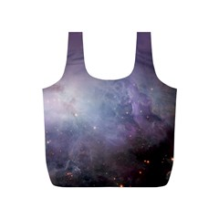 Orion Nebula Pastel Violet Purple Turquoise Blue Star Formation Full Print Recycle Bag (s)