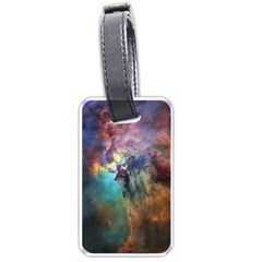 Lagoon Nebula Interstellar Cloud Pastel Pink, Turquoise And Yellow Stars Luggage Tags (one Side)