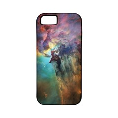 Lagoon Nebula Interstellar Cloud Pastel Pink, Turquoise And Yellow Stars Apple Iphone 5 Classic Hardshell Case (pc+silicone)