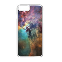 Lagoon Nebula Interstellar Cloud Pastel Pink, Turquoise And Yellow Stars Apple Iphone 7 Plus Seamless Case (white) by snek