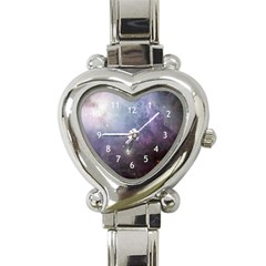 Orion Nebula Pastel Violet Purple Turquoise Blue Star Formation Heart Italian Charm Watch