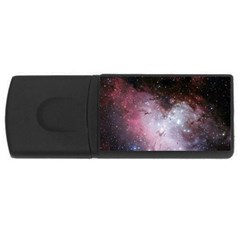 Eagle Nebula Wine Pink And Purple Pastel Stars Astronomy Rectangular Usb Flash Drive