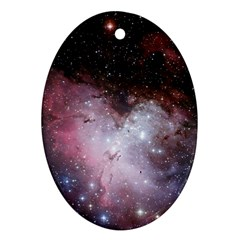 Eagle Nebula Wine Pink And Purple Pastel Stars Astronomy Oval Ornament (two Sides)