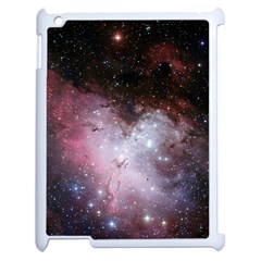 Eagle Nebula Wine Pink And Purple Pastel Stars Astronomy Apple Ipad 2 Case (white) by snek