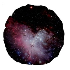 Eagle Nebula Wine Pink And Purple Pastel Stars Astronomy Large 18  Premium Round Cushions by snek