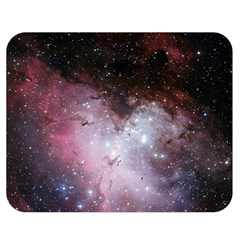 Eagle Nebula Wine Pink And Purple Pastel Stars Astronomy Double Sided Flano Blanket (medium)  by genx