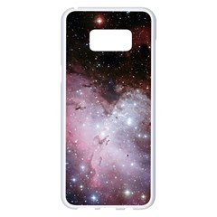 Eagle Nebula Wine Pink And Purple Pastel Stars Astronomy Samsung Galaxy S8 Plus White Seamless Case