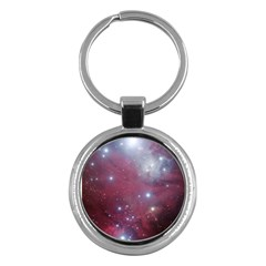 Christmas Tree Cluster Red Stars Nebula Constellation Astronomy Key Chains (round)  by genx