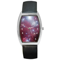 Christmas Tree Cluster Red Stars Nebula Constellation Astronomy Barrel Style Metal Watch by genx