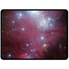 Christmas Tree Cluster Red Stars Nebula Constellation Astronomy Fleece Blanket (large)  by snek
