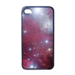 Christmas Tree Cluster Red Stars Nebula Constellation Astronomy Apple Iphone 4 Case (black) by snek