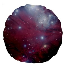 Christmas Tree Cluster Red Stars Nebula Constellation Astronomy Large 18  Premium Round Cushions by genx