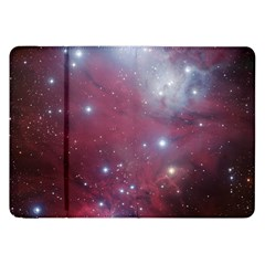 Christmas Tree Cluster Red Stars Nebula Constellation Astronomy Samsung Galaxy Tab 8 9  P7300 Flip Case by snek