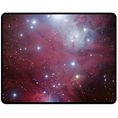Christmas Tree Cluster Red Stars Nebula Constellation Astronomy Double Sided Fleece Blanket (medium)  by snek