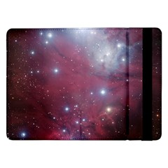 Christmas Tree Cluster Red Stars Nebula Constellation Astronomy Samsung Galaxy Tab Pro 12 2  Flip Case by snek