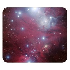 Christmas Tree Cluster Red Stars Nebula Constellation Astronomy Double Sided Flano Blanket (small)  by snek