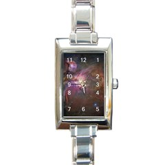 Orion Nebula Star Formation Orange Pink Brown Pastel Constellation Astronomy Rectangle Italian Charm Watch