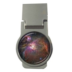 Orion Nebula Star Formation Orange Pink Brown Pastel Constellation Astronomy Money Clips (round)  by snek