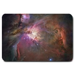 Orion Nebula Star Formation Orange Pink Brown Pastel Constellation Astronomy Large Doormat  by snek