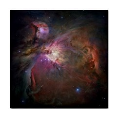 Orion Nebula Star Formation Orange Pink Brown Pastel Constellation Astronomy Face Towel by snek