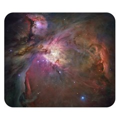 Orion Nebula Star Formation Orange Pink Brown Pastel Constellation Astronomy Double Sided Flano Blanket (small)  by snek