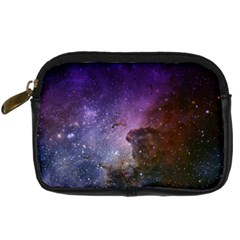 Carina Nebula Ngc 3372 The Grand Nebula Pink Purple And Blue With Shiny Stars Astronomy Digital Camera Leather Case by snek