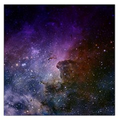 Carina Nebula Ngc 3372 The Grand Nebula Pink Purple And Blue With Shiny Stars Astronomy Large Satin Scarf (square) by snek