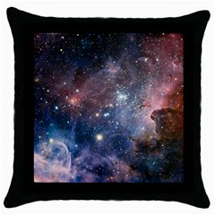 Carina Nebula Ngc 3372 The Grand Nebula Pink Purple And Blue With Shiny Stars Astronomy Throw Pillow Case (black) by snek