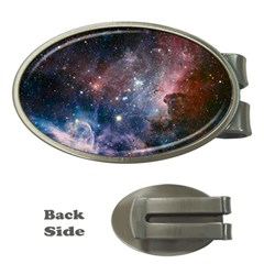 Carina Nebula Ngc 3372 The Grand Nebula Pink Purple And Blue With Shiny Stars Astronomy Money Clips (oval)  by snek