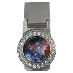 Carina Nebula Ngc 3372 The Grand Nebula Pink Purple And Blue With Shiny Stars Astronomy Money Clips (cz)  by snek