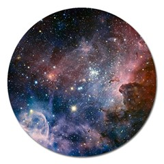 Carina Nebula Ngc 3372 The Grand Nebula Pink Purple And Blue With Shiny Stars Astronomy Magnet 5  (round)