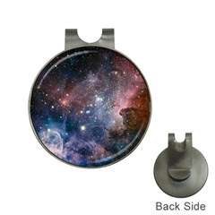 Carina Nebula Ngc 3372 The Grand Nebula Pink Purple And Blue With Shiny Stars Astronomy Hat Clips With Golf Markers by snek