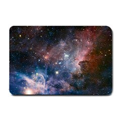 Carina Nebula Ngc 3372 The Grand Nebula Pink Purple And Blue With Shiny Stars Astronomy Small Doormat  by snek