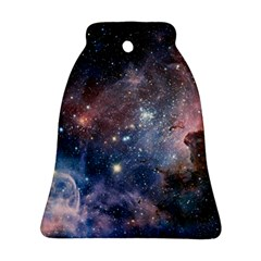 Carina Nebula Ngc 3372 The Grand Nebula Pink Purple And Blue With Shiny Stars Astronomy Bell Ornament (two Sides) by snek