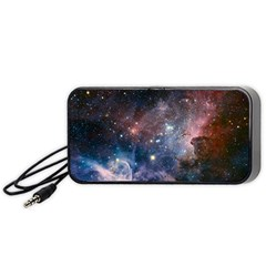 Carina Nebula Ngc 3372 The Grand Nebula Pink Purple And Blue With Shiny Stars Astronomy Portable Speaker by snek