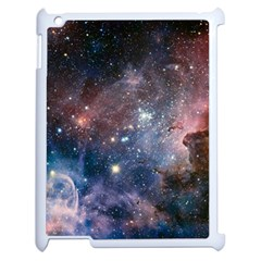 Carina Nebula Ngc 3372 The Grand Nebula Pink Purple And Blue With Shiny Stars Astronomy Apple Ipad 2 Case (white) by snek